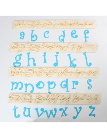 Cortadores letras y números estilo funky minúsculas