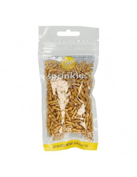 Flechas doradas comestibles azucar