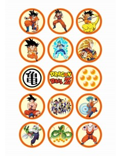 Papel de azúcar Dragon Ball