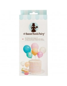 Toppers mini globos para tartas colores variados