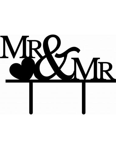 Topper para tarta Mr. & Mr.