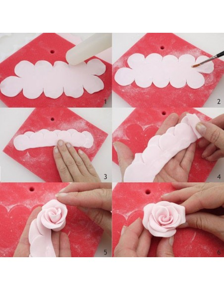 Set 2 cortadores rosas fáciles