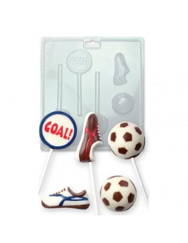 Molde piruletas y bombones futbol