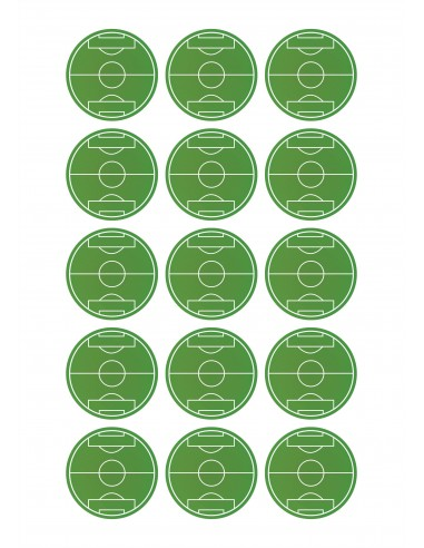 Papel de azúcar campo de fútbol para galletas
