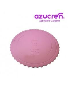 Base Tarta fina rosa 35 cm