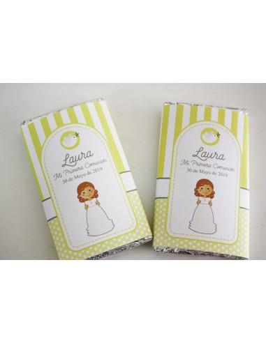 Chocolatinas niña comunión