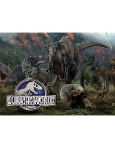 Papel de azúcar Jurassic World rectangular