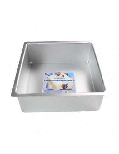 Molde cuadrado de aluminio extra profundo 15 cm PME