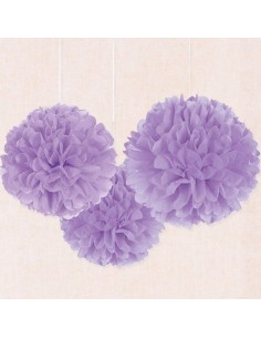 Flor de papel de color lila