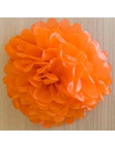 Flor de papel de color naranja