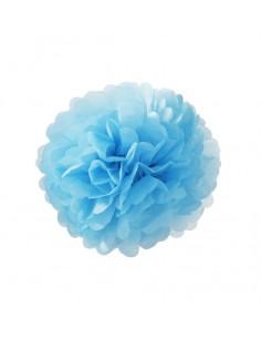 Flor de papel de color celeste