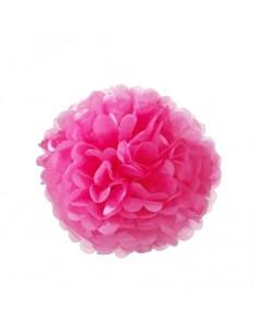 Flor de papel de color fucsia