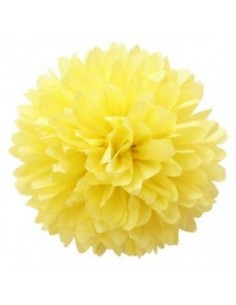 Flor de papel para decorar amarilla