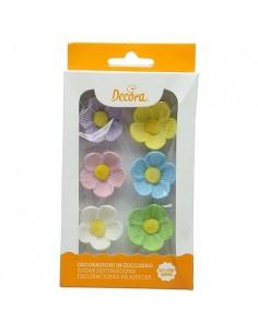 Flores azucar colores variados