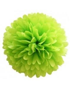 Flor de papel para decorar verde