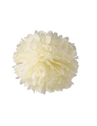Flor de papel para decorar beige