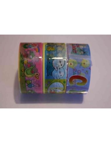 Pack 3 washi tape animalitos
