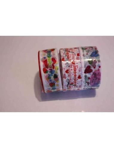 Pack 3 washi tape amorosos