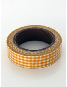 Fabric Tape cuadros amarillos
