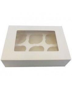 Caja 6 Cupcakes Con Ventana