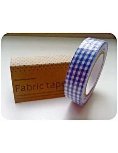 Fabric Tape cuadros azul marino
