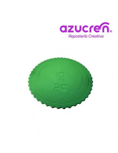 Base Tarta fina verde 25 cm