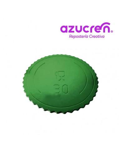 Base Tarta fina verde 30 cm
