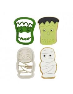Set 2 cortadores Frankenstein y Momia