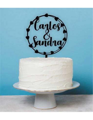 Topper tarta boda Corona