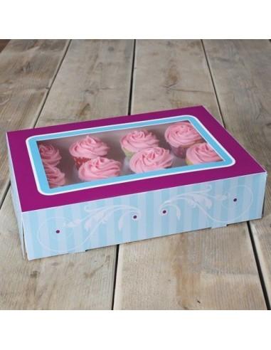 FunCakes Caja 12 Cupcakes Elegante + interior