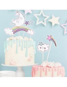 Toppers unicornios cartón
