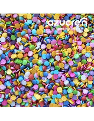 Confeti comestible multicolor