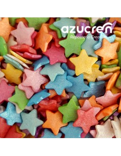 Estrellas comestibles multicolor