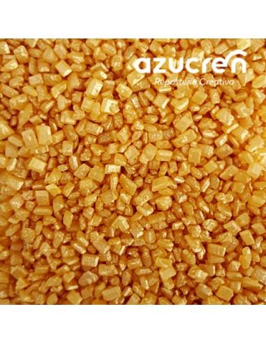 Cristales de azúcar oro