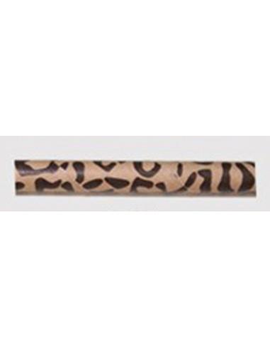 Pack de 25 pajitas de papel animal print leopardo