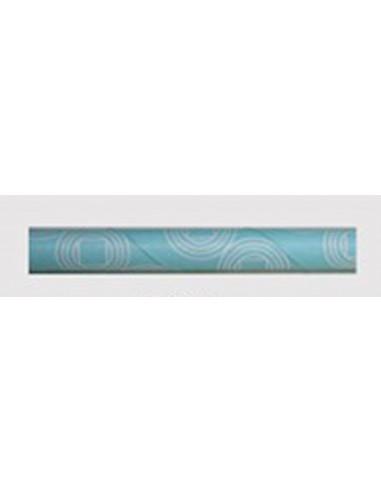Pack de 25 pajitas de papel con estampado retro azul
