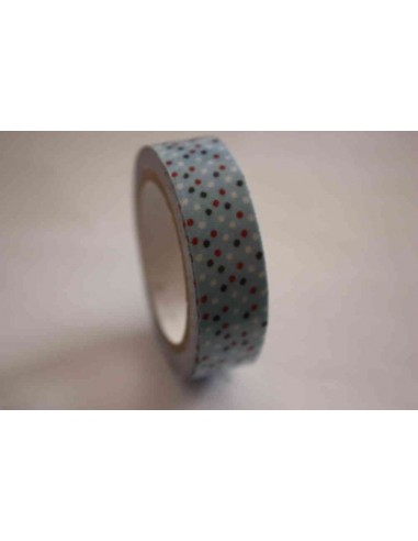Fabric Tape azul con lunares