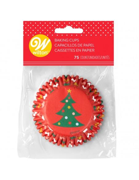 Cápsulas rojas árbol Navidad