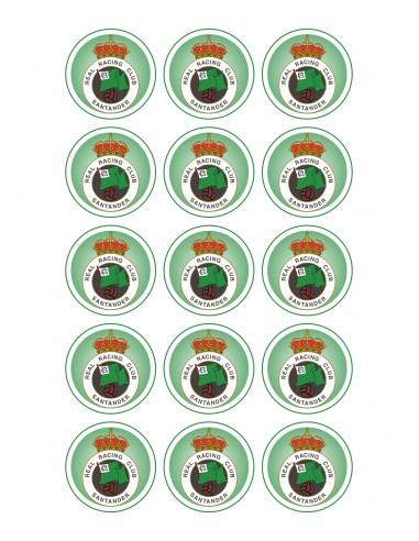 Papel de azúcar escudo Racing Santander para galletas