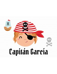 Papel de azúcar Pirata personalizado rectangular