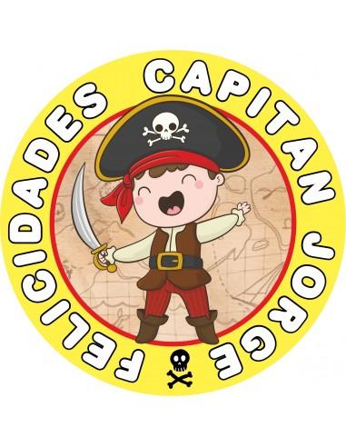 Papel de azúcar Pirata personalizado