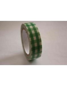 Fabric Tape cuadros verdes grandes