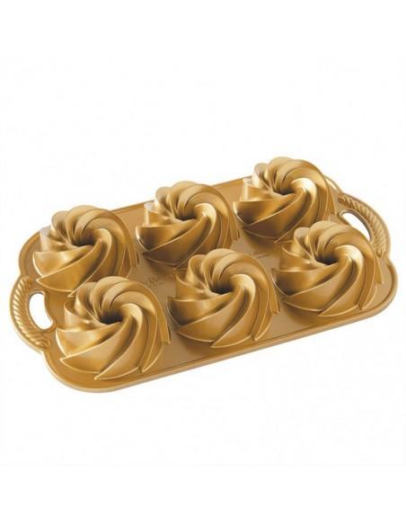 Molde Heritage Bundtlette Pan Gold Nordic Ware