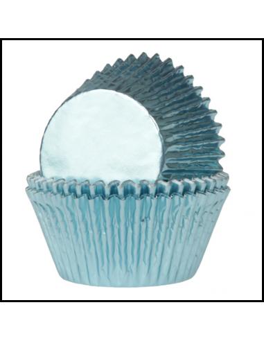 Mini cápsulas azules metalizadas