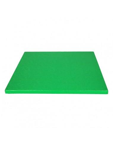 Base Tarta Cuadrada Verde 30 cm