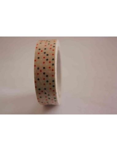 Fabric Tape Beige Lunares Variados
