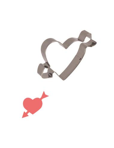 Cortador corazón con flecha