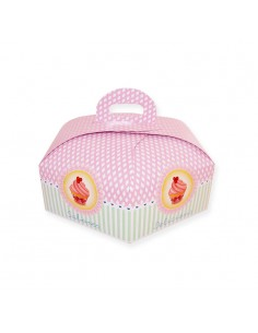 Caja para tarta hexagonal 25 cm