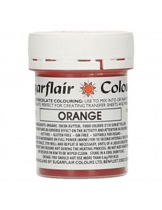 Colorante para Chocolate Naranja Sugarflair