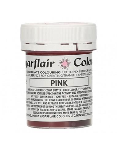 Colorante para Chocolate Rosa Sugarflair